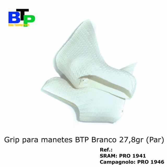 Borracha Manete Carbono BTP Camp White (par) 27.8gr