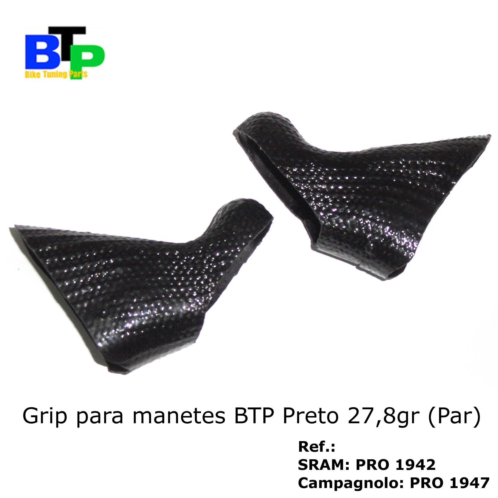 Borracha Manete Carbono BTP SRAM Black (par) 27.8gr
