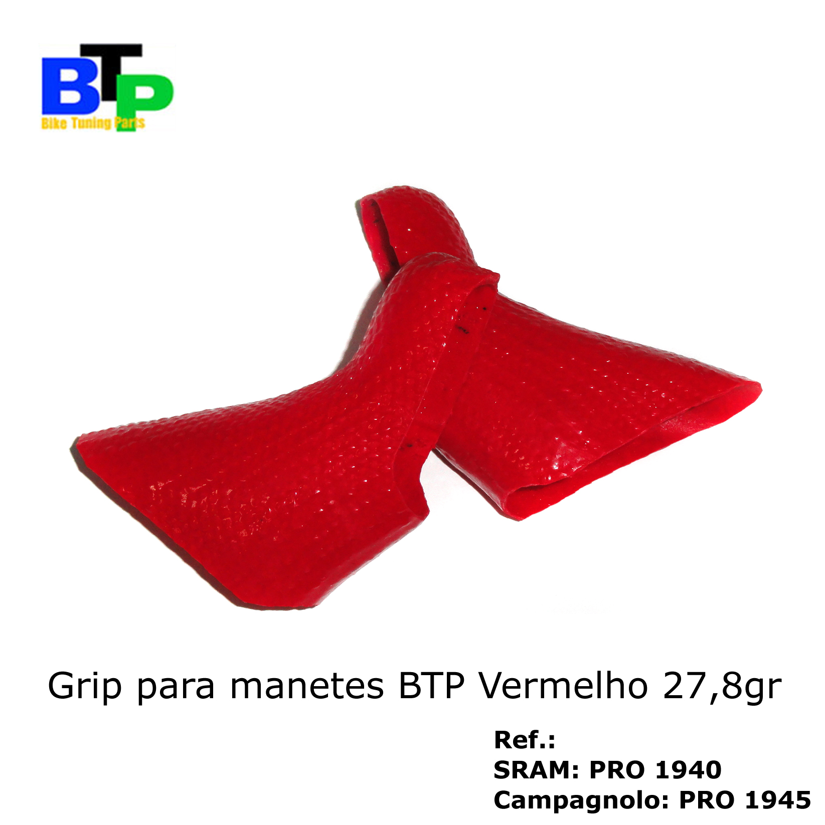 Borracha Manete Carbono BTP Camp Red (par) 27.8gr