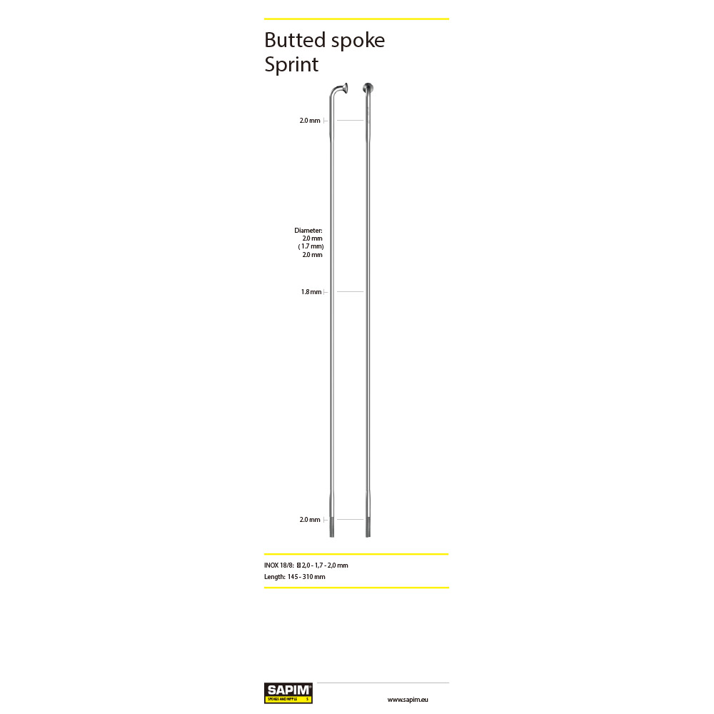 Spoke PILLAR 255 (PSR15) Yellow